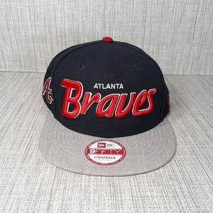 New Era 9Fifty Atlanta Braves Navy/Red Adjustable